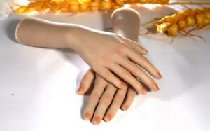 New Silicone Female Hand Model Arbitrarily Posed Display Jewelry tattoo 1 Pair