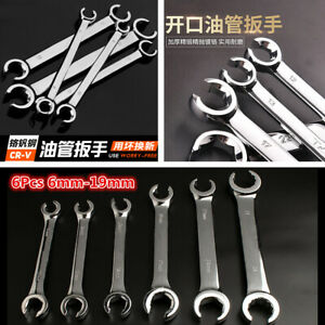 6x 6 19mm Metric Flared Nut Spanner Set For Brake Air Conditioning Diesel Lines