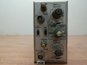 Tektronix 7a26 Dual Trace Amplifier Oscilloscope Plug in Module