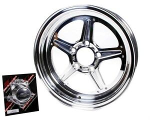 Wheel Street Lite 15x4 1 625 Bs 5x4 75 Bolt Pattern Billet Aluminum Polished