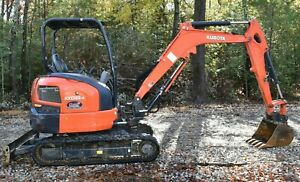 2018 Kubota Kx033 4 Mini excavator Low Hours