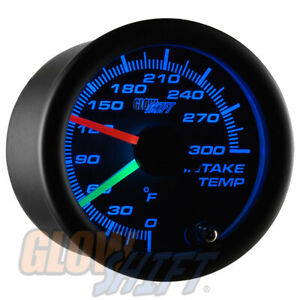 Slightly Used Glowshift Tinted 7 Color Dual Intake Temperature Gauge W Sensors