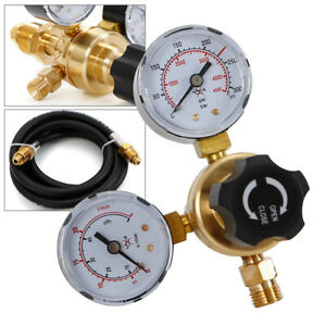 Argon Co2 Regulator Gauges Mig Tig Flow Meter 6 Inert Gas Hose Welding Cga580