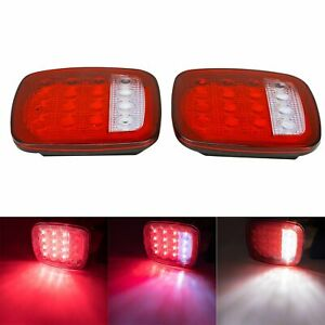 For Jeep Wrangler Tj Cj 76 06 Led Tail Lights Rear Brake Lamps Turn Stop Reverse