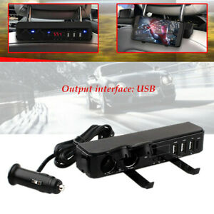 Car Modified Backseat Voltage Temperature Time Usb Fast Charging Socket Display
