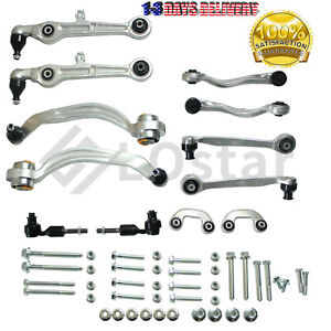 12pcs Control Arms Tie Rod Ends Sway Bar Links Front Kit For Audi A4 Quattro S4