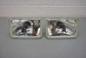 H4 Headlights Pair 4 x6 165mm Rectangular Sealed Beam Conversion Kit E code