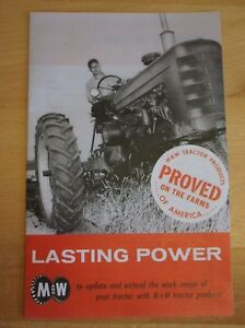M w Gear Co Tractor Brochure Farmall Ih Pistons Governor 9 Speed Hand Clutch Jd