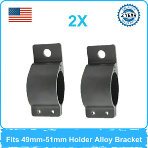 2pcs 49 51mm Mount Bracket Roll Holder Alloy Bull Bar Truck Vehicle 1 9 2inch