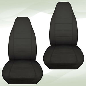 Designcover Front Car Seat Covers Charcoal Fits 04 12ford Ranger Bucket Seats