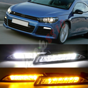 1set Led Daytime Running Lights Drl Fog driving Lights For Vw Scirocco R 2011 14