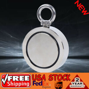 Fishing Magnet Double Sided 1700lb Pulling Force Neodymium Salvage Ring Deep Sea