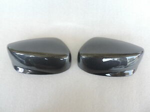 Carbon Style Door Rear View Mirror Covers Pair Trim Cap For 08 12 Honda Accord