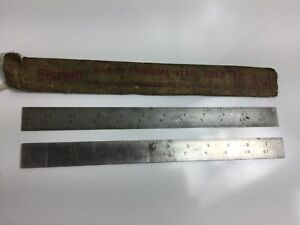 The L s Starrett Co No 4r Grad C607r U s a 12 Inch Ruler Slotted