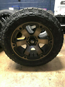 20 Fuel D564 Beast 285 55r20 At Wheel Tire Package 5x150 Fits Toyota Tundra