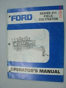 Ford Series 211 Field Cultivator Operator s Manual
