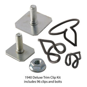 Body Trim Clip Kit Includes 96 Clips Bolts Deluxe 1940 Ford Car 01a 20000 B