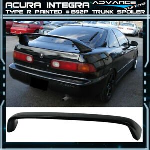 94 01 Integra Dc2 Type r Painted B92p Nighthawk Black Pearl Trunk Spoiler