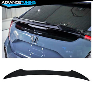 Fits 17 20 Honda Civic 10th 5dr Hatchback V Style Unpainted Trunk Spoiler Wing