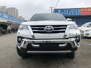 Car Styling Front Bumper Protector Plate Guard For Toyota Fortuner 2016 2019 New