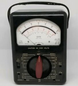 Triplett 630 a Multimeter Has Wear Bakelite Vintage Batteries Works