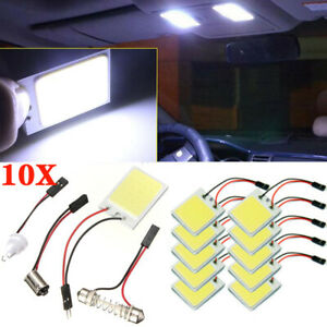 10pack 48 Smd Cob White Panel Led T10 Car Interior Panel Light Dome Lamp Bulb Us