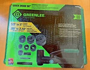 Greenlee 7906sb Quick Draw 90 Hydraulic Punch Driver Set New
