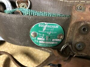 Buckingham 19655m Size 27 Made In Usa Climbing Belt Used Storage Unit Find As Is