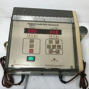 Chattanooga Intelect Model 200 Ultrasound Unit As Is R 11