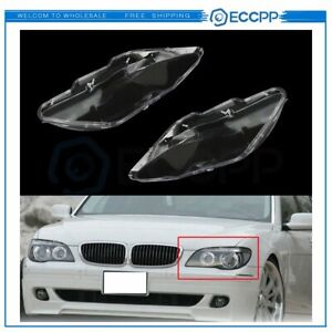 Headlight Lens Cover Polycarbonate Left right For 2005 2008 Bmw 7 Series E66
