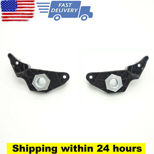Pair For Bmw 5 Series E60 E61 Headlight Repair Bracket Clips Black 63126941478