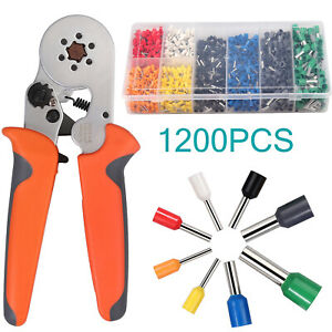 Ferrule Crimper Crimping Plier Tool Kit 1200x Wire Terminal Connector 0 25 6mm