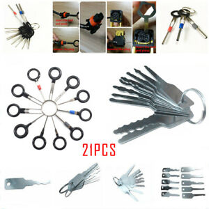 21x Car Emergency Opening Kit Access Door Easy Unlock Keys terminal Removal Tool