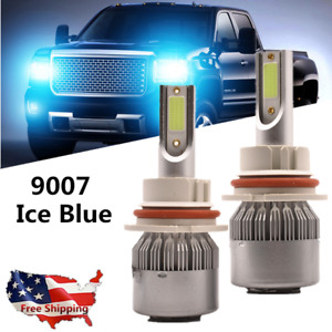 Ice Blue 9007 Led Headlight Hi lo Beam Bulbs 6000k For Nissan Frontier 2005 2018