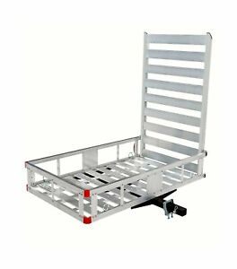 Maxxhaul 80779 Aluminum Hitch Mount Cargo Carrier 47 Long Ramp Accessories New