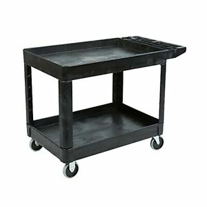 Rubbermaid Commercial Products Handling 2 Shelf Utility Service Cart Medium Size