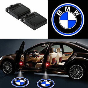 2pcs Wireless For Bmw Car Led Door Projector Logo Ghost Shadow Light