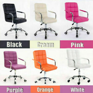New 8 Color Swivel Pu Leather Office Chair Adjustable Home Computer Chair Desk