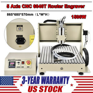 Newest Cnc 5axis 1 5kw 6040 Wood Metal Router Engraving Milling cutting Machine