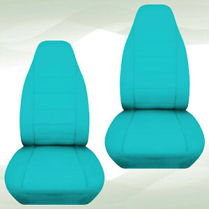 Designcover Front Car Seat Covers Turquoise Fits 04 12 Ford Ranger Bucket Seats
