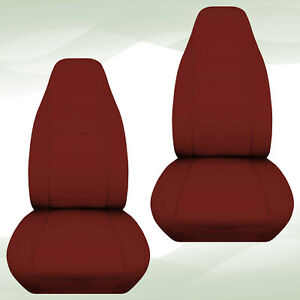Designcover Front Car Seat Covers Maroon Fits 2004 2012 Ford Ranger Bucket Seats
