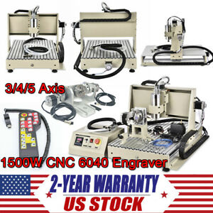 3 4 Axis Cnc 6040 Router Engraving Milling Machine Diy Engraver Usb parallel rc
