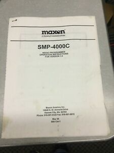 Maxon Smp 4000c Radio Programmer Operation Instructions Ham Manual