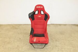 Jdm Sparco Rev Plus Red Racing Bucket Seat With Rsx Dc5 Rail Single Seat