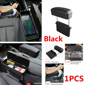 Universal Car Seat Console Elbow Armrest Support Cover Storage Box Adjustable