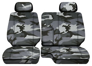 Camo Gray Car Seat Covers Fits 95 00toyota Tacoma Front Bench 60 40 Seats 2hr