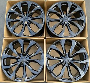 20 Audi A6 S6 Oem Factory Wheels Rims Gloss Black 58897 2014 2015 4g0601025g