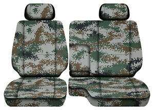 Digital Camo Green Car Seat Covers Fits 95 00toyota Tacoma Front Bench 60 40 2hr