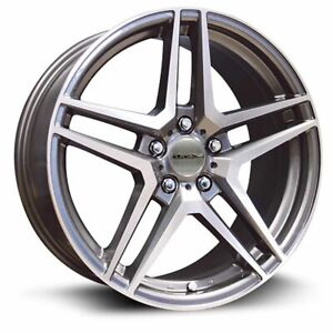 Four 4 18x8 Rtx Oe Stern Et 42 Grey 5x112 Wheels Rims