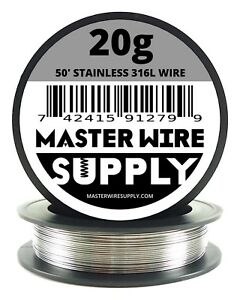 Mws Ss 316l 50 Ft 20 Gauge Awg Stainless Steel Resistance Wire 20g 50